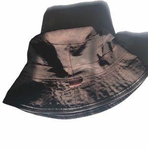 Authentic Coach leather rim bucket hat